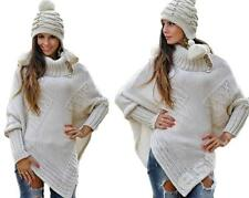 Top Woman Thick Heavy Winter Poncho Jumpers Sweater Size 8 10 12 14 Maternity