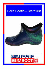 Funky Ladies Ankle Gumboots Starburst Size 5 6 7 8 9 10 11 New Wellies Womens