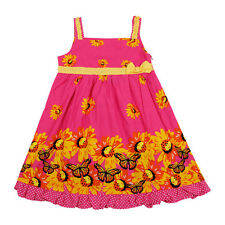 New baby girls cotton summer dresses floral clothing clothes size Sz 1 2 3 4 5 6
