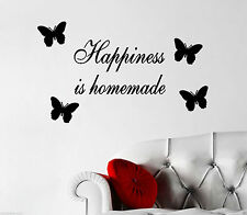 Happiness Is Homemade Quote, Decal, Wall Art, Decoration, Free P&P