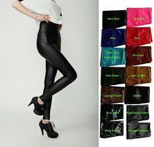Sexy Women's Skinny Faux Leather High Waist Trousers Tights Pants New