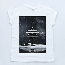 Space Geometry Galaxy Indie T Shirt Fresh Hipster Illuminati Blvck Triangle Tee