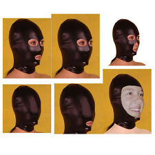 Various Spandex with Latex Hood  Mask Costume Party Club Wear Black