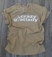Funny GOAT clothing TEE SHIRT T-SHIRT great gift! CRAZY GOAT LADY SM-4XLG