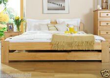 *SOLID WOODEN BEDROOM FURNITURE*PINE SMALL DOUBLE BED 120/200cm in Alder COLOUR
