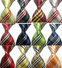 Hot Sale Striped Jacquard Woven Classic Elegant Necktie Silk Men's Tie 15 Colors