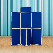 Quality Folding Display Boards - 7 Panel Exhibition Stand  - School / Exhibition
