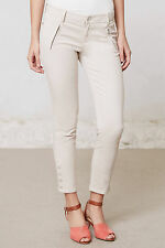 ANTHROPOLOGIE Level 99 Slim Twill Crops Pants Various Sizes NWT Cream Color