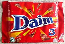 MILK CHOCOLATE DAIM BARS CRUNCHY ALMOND CARAMEL CENTRE CHOOSE AMOUNT 28g BARS