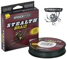 SPIDERWIRE STEALTH BRAID COL. GREEN M.270 DALLA MISURA MM.0,14  A MM.0,30