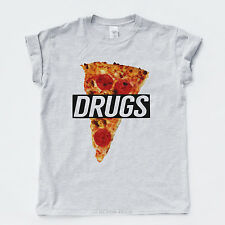 DRUGS PIZZA T SHIRT Drake Hype Hipster YMCMB Streetwear Obey Rap OVOXO Indie Tee