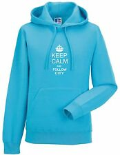 KEEP CALM AND FOLLOW CITY FAN HOODY ALL SIZES AVAILABLE