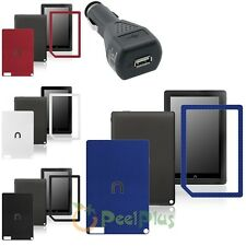 "Multi-Color Sticker Case For Nook HD+ Plus 9"" Tablet+USB Car Charger Adapter"