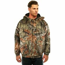 Men's EVOLTON Camo INSULATED & WATERPROOF Tanker Jacket Hunting Camping Hiking
