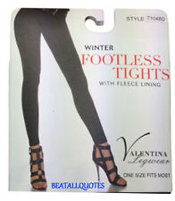WOMENS BLACK TIGHTS LEGGINGS FLEECE LINED THERMAL THICK STRETCH POSTAGE DISCOUNT