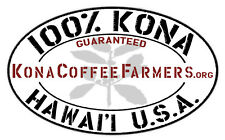 Kona Coffee Beans 100% Hawaiian Fresh Roasted Ground by Request 4 / 1 Pound Bags