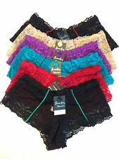 Lot 1, 6  Lace Boyshort Low Rise Panties Underwear Size Small and Medium