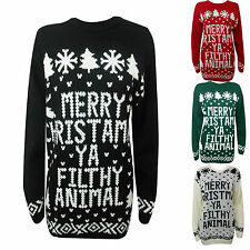 LADIES WOMENS CHRISTMAS JUMPERS XMAS JUMPER NOVELTY GIFTS SWEATER S M L XL