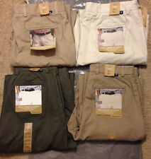 NWT New CHAPS Ralph Lauren Mens Flat Front Chino Khakis Casual Cargo Pants $49.5