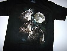 The Mountain Three Wolf Moon Adult Mountain Classic Dyed Cotton T-Shirt