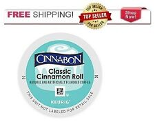 NEW & FRESH Keurig k cups CINNABON Classic Cinnamon Roll Coffee k-cups