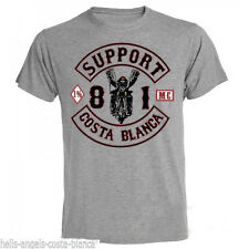 1C Biker Grey Support81 Big Red Machine  Hells Angels Costa Blanca Spain 666