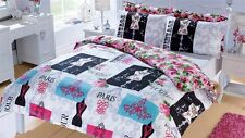 New Modern Fashionista Paris Fashion 3 Piece Duvet Cover Set