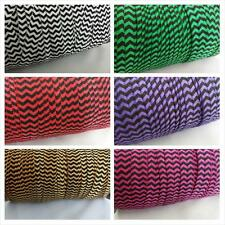 "1 yard 10 yards or wholesale roll of 100 yards chevron fold over elastic 5/8"" W."