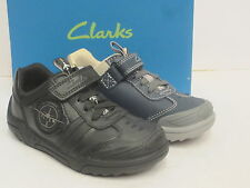 CLARKS BOYS SCHOOL/CASUAL SHOES WING LITE/BRITE  AVAILABLE IN BLACK OR NAVY