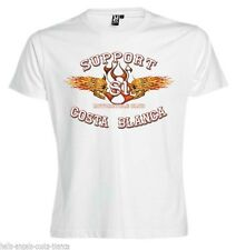 01 Flaming Sculls White T-Shirt Support81 Big Red Machine 1% Hells Angels Spain