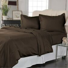 [ BROWN SOLID ] COM.BEDDING COLLECTION 600TC 100% EGYPTIAN COTTON @ ALL SIZES