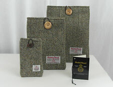 HARRIS TWEED fabric case sleeve for iPad 2, 3, 4 - iphone 4/5 - ipad mini lovat