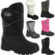 LADIES SNOW BOOTS GIRLS NEW WINTER MUCKER THERMAL FUR WELLINGTONS SKI SHOES SIZE