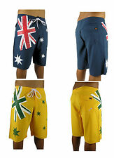 Mens Board Shorts Aussie Flag Logo Casual Shorts