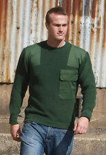 Military Wool Green Jumper - Genuine German Police Surplus