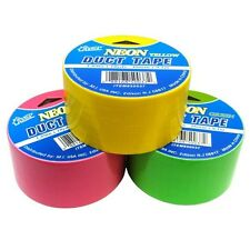 *NEON COLORS* FLUORESCENT DUCT TAPE - 10 YARDS DUCK TAPE HOT COLORS USA FAST!