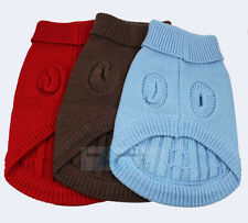 CUTE KNITTED DOG JUMPER SWEATER PET CLOTHES FOR SMALL DOGS SIZE S M L