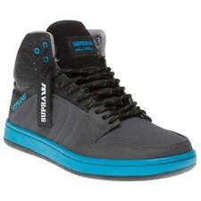 New Mens Supra Black S1w Suede Trainers Hi Top Lace Up