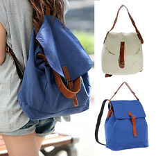 Lady Fashion Vintage Canvas Satchel Rucksack Travel Schoolbag Bookbag Backpack