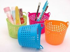 Portable Useful Mini Desk Plastic Organizer Decor Stationery Storage Basket 1pcs