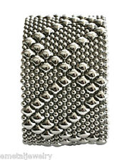 Sergio Gutierrez Liquid Metal by SG Cuff Silver Mesh Bracelet B46 / 3 Sizes