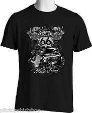 Vintage Hot Rod T-shirts Route 66 Rat Rod Mother Road Trip Men's S 3XL Big Tall