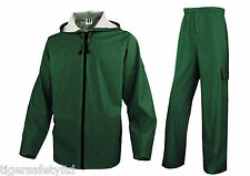 Delta Plus Panoply EN850 Olive Green PVC Waterproof Rainsuit Trouser Jacket Coat