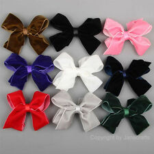 "9/12pcs Big 4.5"" Boutique Girls Women Velvet Ribbon Hiar Bows Clip Mix 9 Colors"