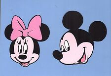 "Mickey Mouse & Minnie Mouse Die Cut Set - 7"" or 8"" (1 Mickey & 1 Minnie)"