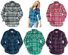 AEROPOSTALE Womens Long Sleeve Plaid Woven Button Down Shirt XS,S,M,L,XL,2XL NEW