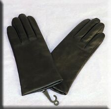 Brand New Black Lambskin Leather Gloves with Cashmere Lining - Efurs4less - SALE