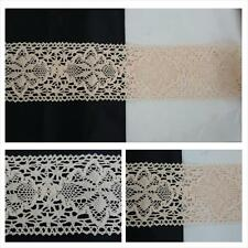 """1 / 10 yards pale peach double scalloped  crochet  clunny lace trim 3""""W."""