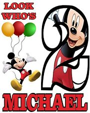 Personalized Mickey Mouse Birthday T Shirt Custom Any Name Any Age