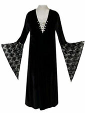 Sexy Black Velvet Lace-up Dress Witch Costume Gothic